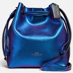 COACH METALLIC HOLOGRAM PURPLE LEATHER DERBY XBODY